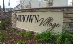 Midtown Village Marque Sign and Lettering - By Marketshare, Inc.