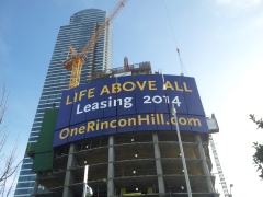 Huge 50' x 100' Signage for Rincon II in San Francisco by www.MarketshareOnline.com